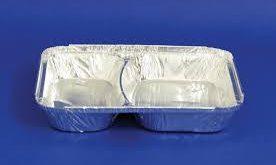 ظروف یکبار مصرف آلومینیومی دو خانه